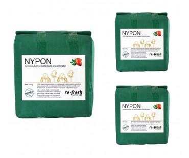 Nyponpulver, Re-fresh Superfood. 1 kg, 3-PACK