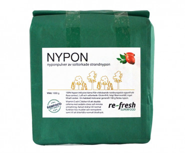 Nyponpulver, Re-fresh Superfood. 1 kg