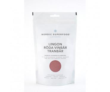 Red Mix Powder, blandning av röda nordiska superbär, Myrberg. 175 g
