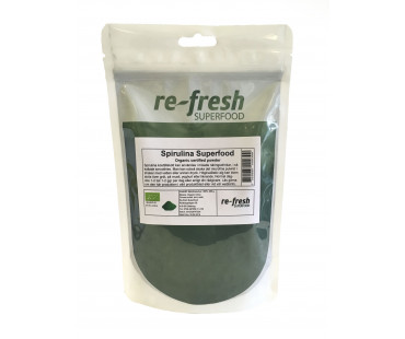 Spirulina EKO, Re-fresh Superfood. 150 g Kort datum!