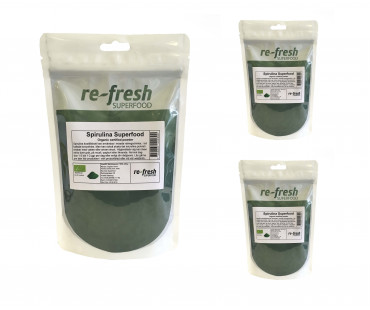 Spirulina EKO, Re-fresh Superfood. 150 g, 3-PACK