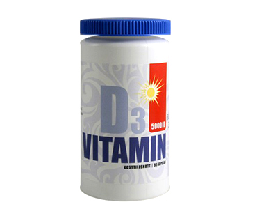 D-vitamin, Vidasal. 5000 IE - 90 kap