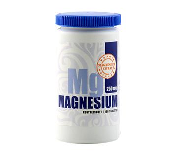 Magnesiumcitrat med gurkmeja, Vidasal. 250 mg  - 100 tabletter