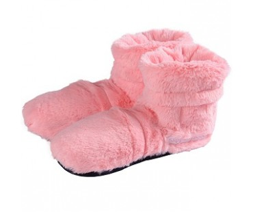 Warmies Slippies Boots Deluxe Rosa 37-42 (utagbar fyllning)